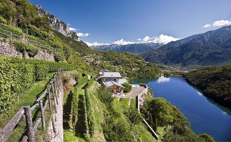 File:I terrazzamenti del lago Moro - Vigneti in località scraleca.jpg
