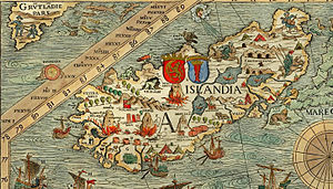History of Iceland - Iceland on the carta marina by Olaus Magnus