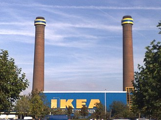 Purley Way - The IKEA on Purley Way was built on the site of a power station, and retains its chimneys