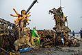 Immersed Durga Idol Remains - Baja Kadamtala Ghat - Kolkata 2015-10-22 6611.JPG