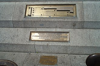 Imperial units - Imperial standards of length 1876 in Trafalgar Square, London.