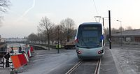 Inauguration de la branche vers Vieux-Condé de la ligne B du tramway de Valenciennes le 13 décembre 2013 (017).JPG