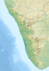 100px india kerala relief map