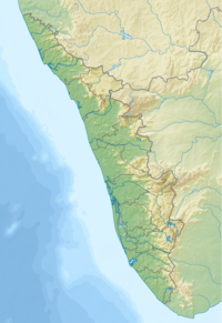 Map showing the location of Periyar National Park