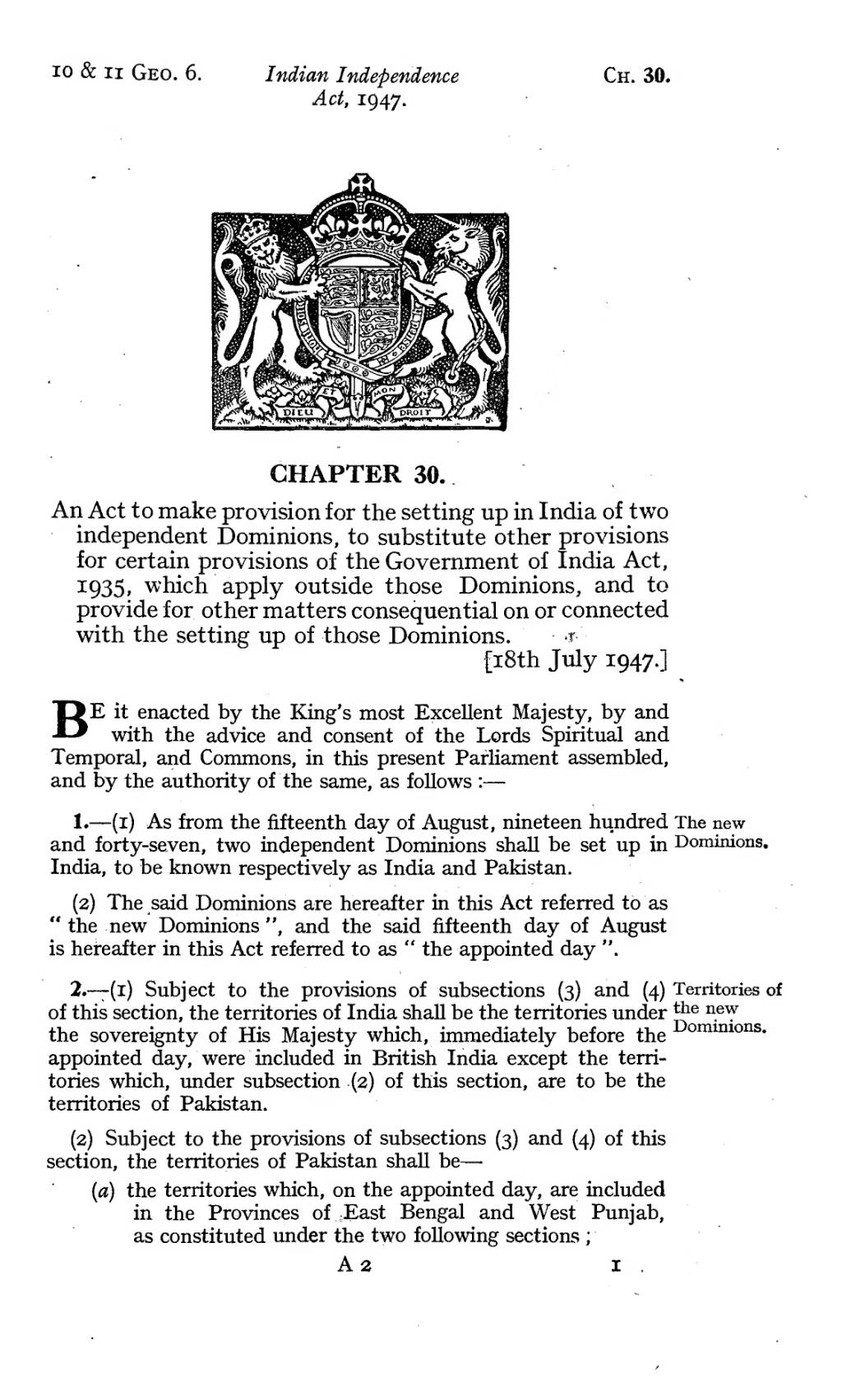 Government of india act 1947 pdf to excel