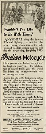 Afiche de las motos Indian.