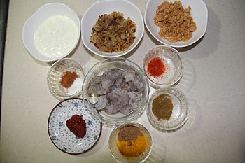 کتاب آشپزی/کاری میگوی هندی - ویکیکتاب