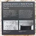 Infoploča - nekadašnji samostan sv. Marije de Taurello, Split 20210515.jpg