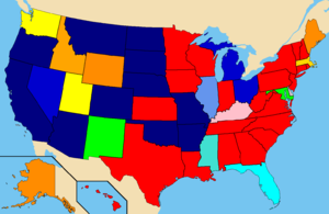 Initiatives and referendums in the United States - Image: Initiatives, referendums, and legislative referral in the United States