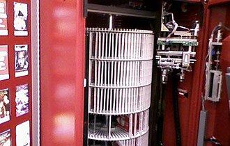 Redbox - The carousel of disks inside of a Redbox machine.