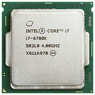 Intel Core - Top of an Intel Core i7-6700K