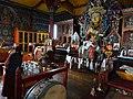 Interior of Yiga Choling Monastery with Monk Lighting Incense - Ghum (Ghoom) - Near Darjeeling - West Bengal - India - 02 (12432272784).jpg