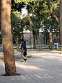 Iranian Man and his wife walking and talking - Mohammad Al Mahruq Mosque - Nishapur 3.JPG