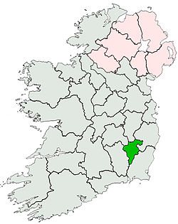 Location of Coonty Carlow