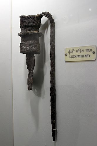 Lock (security device) - Iron Lock from Sirpur, India Excavation, 12th century