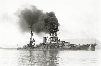 Ise-class battleship - Ise underway during the 1920s