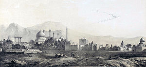 Isfahan - Isfahan to the south side, drawing by Eugène Flandin