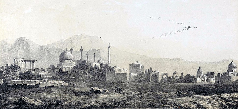Isfahan to the south side by Eugène Flandin
