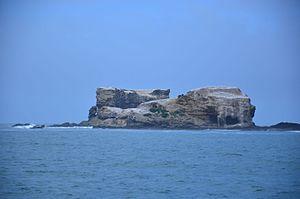 Lawrence Rocks - Image taken aboard Southern Coast Charters of Lawrence Rocks rocky islets in Western Victoria.