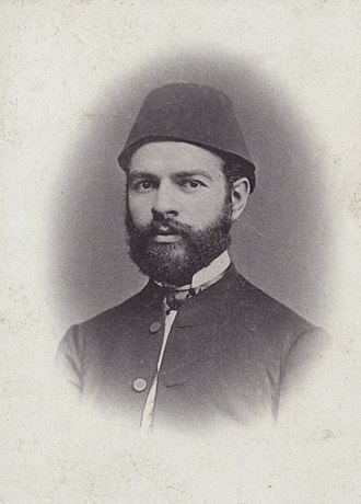 Ismail Qemali - Portrait of a young Ismail Qemali in 1867.