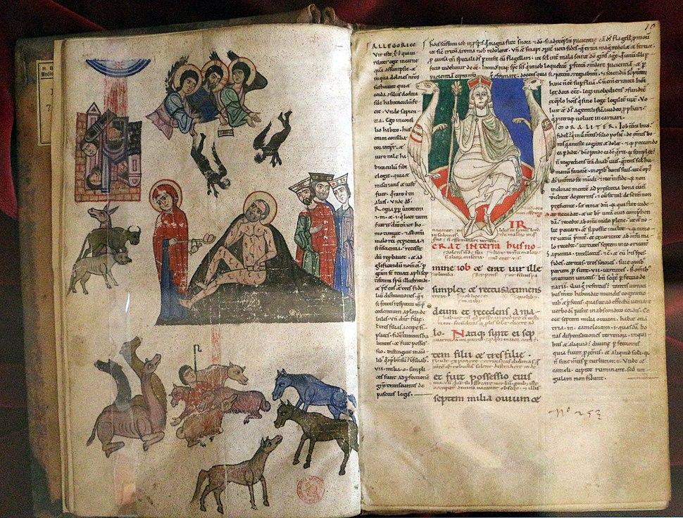 Italia centrale, biblia sacra con glosse (giobbe), 1175-1200 ca. pluteo 7 dex 11, 01