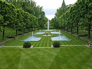 Longwood Gardens - The Italian Water Garden, Longwood Gardens, Kennett Square, Chester County, Pennsylvania