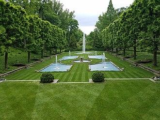 Longwood Gardens - The Italian Water Garden, Longwood Gardens, Kennett Square, Chester County, Pennsylvania
