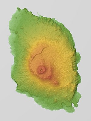 Izu Ōshima - Relief map