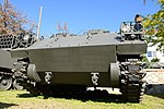 JGSDF Type 75 wind measurement vehicle(No.KU130A-0012A) left front low-angle view at Camp Himeji October 21, 2018 02.jpg