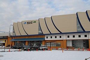 Fukuchiyama Station - Fukuchiyama Station exterior, December 2005