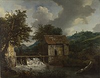 Jacob Isaacksz. van Ruisdael - Two Watermills and an Open Sluice near Singraven - WGA20466.jpg