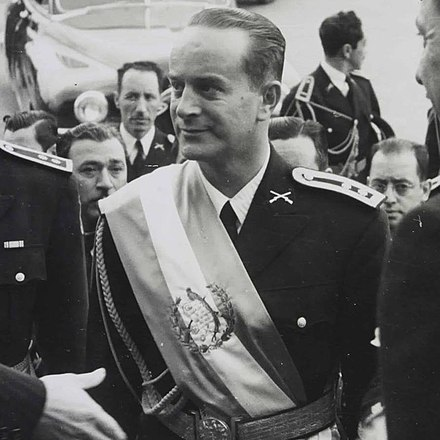 Guatemala's democratically elected president Jacobo Arbenz was overthrown in a coup planned by the CIA to protect the profits of the United Fruit Company. Jacoboarbenz1950.jpg