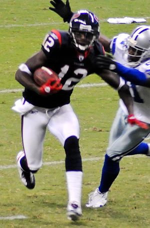 History of the Houston Texans - The Texans drafted Jacoby Jones in the 3rd round of the 2007 Draft. Jones played as a returner and a wide receiver in five seasons with the Texans.