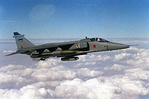 No. 6 Squadron RAF - A 6 Squadron Jaguar GR3 over northern Iraq in 2000.