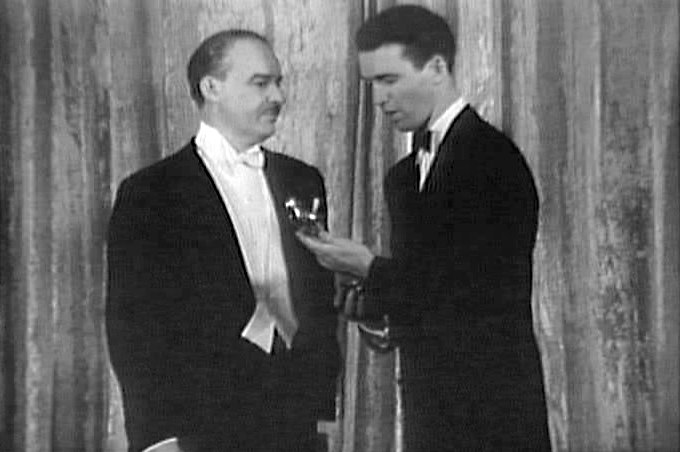 James stewart receives academy award 1941