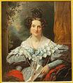 Jan Adam Kruseman (1804-1862), Portret van Hendrina Eclasina Geertruida Vinju-Heije (1803-11858), 1934, Olieverf op doek.JPG