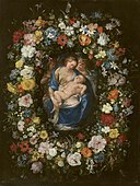 Jan Brueghel (I) - Wreath with Virgin and Child and Two Angels.jpg