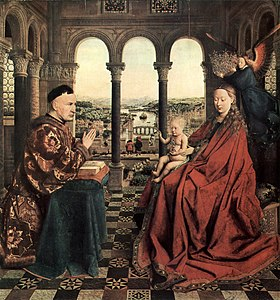 Image illustrative de l'article La Vierge du chancelier Rolin (Jan van Eyck)