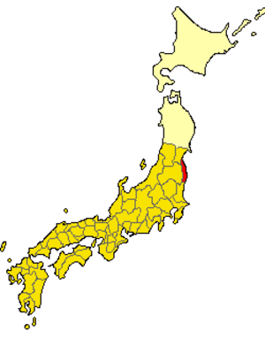 Iwaki Province (718) - Map of Japan (718), Iwaki in red
