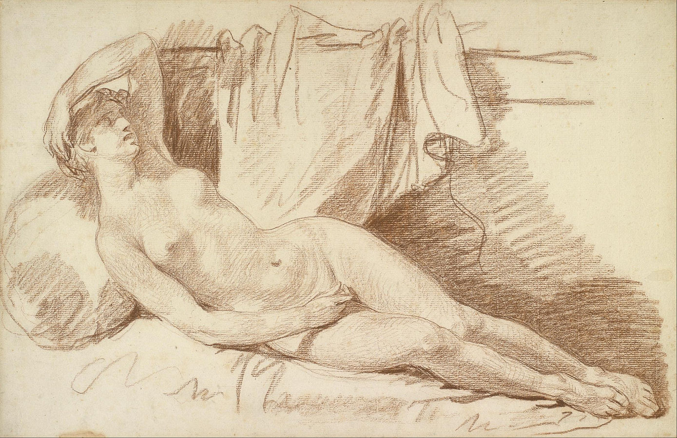 Reclining Female Nude: Study for \
