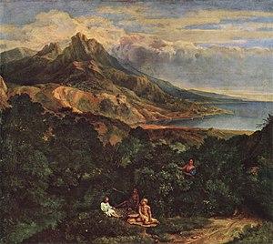 Francisque Millet - Italian landscape, Alte Pinakothek