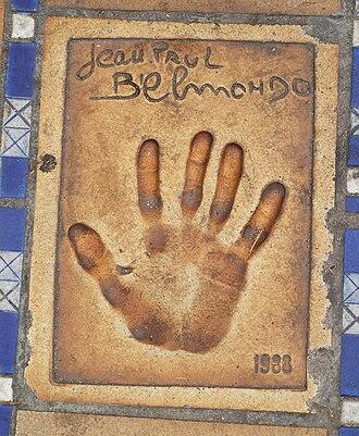 Jean-Paul Belmondo - Image: Jean Paul Belmondo Handprint