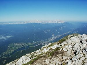 Upper Sava Valley - View up the Upper Sava Valley from Mount Stol