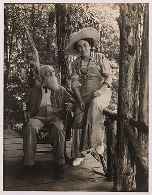 Jessie Tarbox Beals - Jessie Tarbox Beals with John Burroughs, 1908