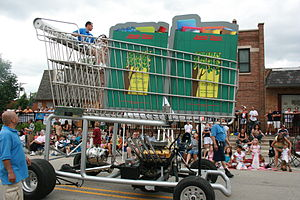Jewel-Osco - monster shopping cart truck