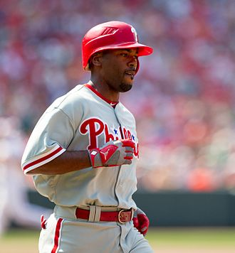 Jimmy Rollins - Rollins with the Philadelphia Phillies in 2012