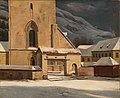 Johan Christian Dahl - The Entrance Gate of the Cathedral, Bergen - Bergens Domkirke - KODE Art Museums and Composer Homes - BB.M.00982.jpg