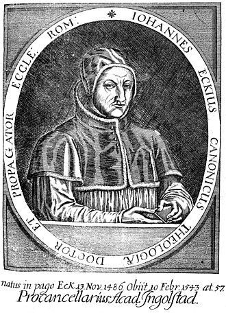 Johann Eck - Portrait of Johann Eck (1717)