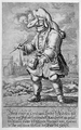 Johann Melchior Füssli (1677–1736), Sketch of a Cordovan-leather-clad doctor of Marseilles.png