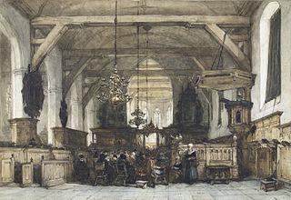 Interieur van de kerk te Maasland